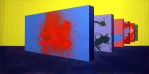 Geomy  wrześniowe, 2012 rok, 90x180 cm, akry l, olej na płótnie