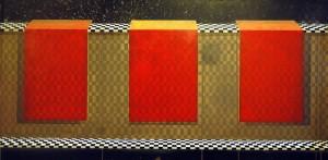 Harmonia przestrzeni II, 2012 rok, 90x180 cm,  akryl, olej na płótnie